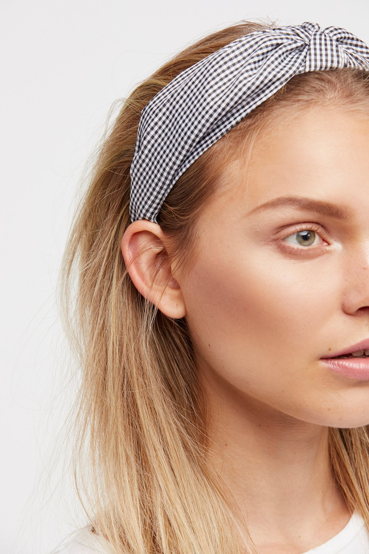 Gingham Knotted Headband