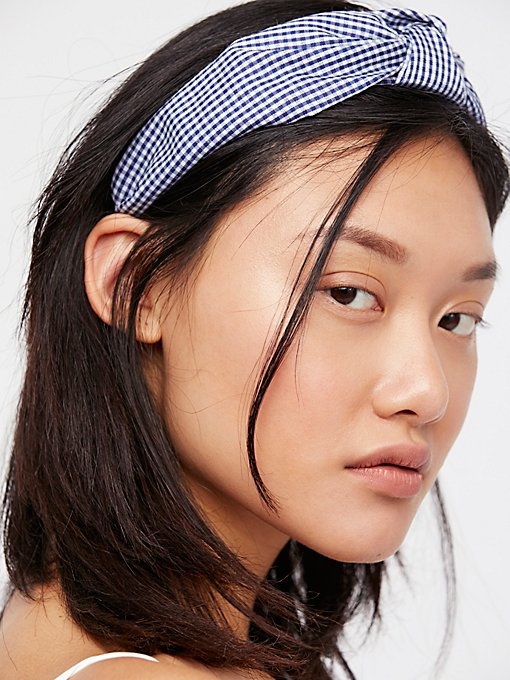 Product Image: Gingham Knotted Headband