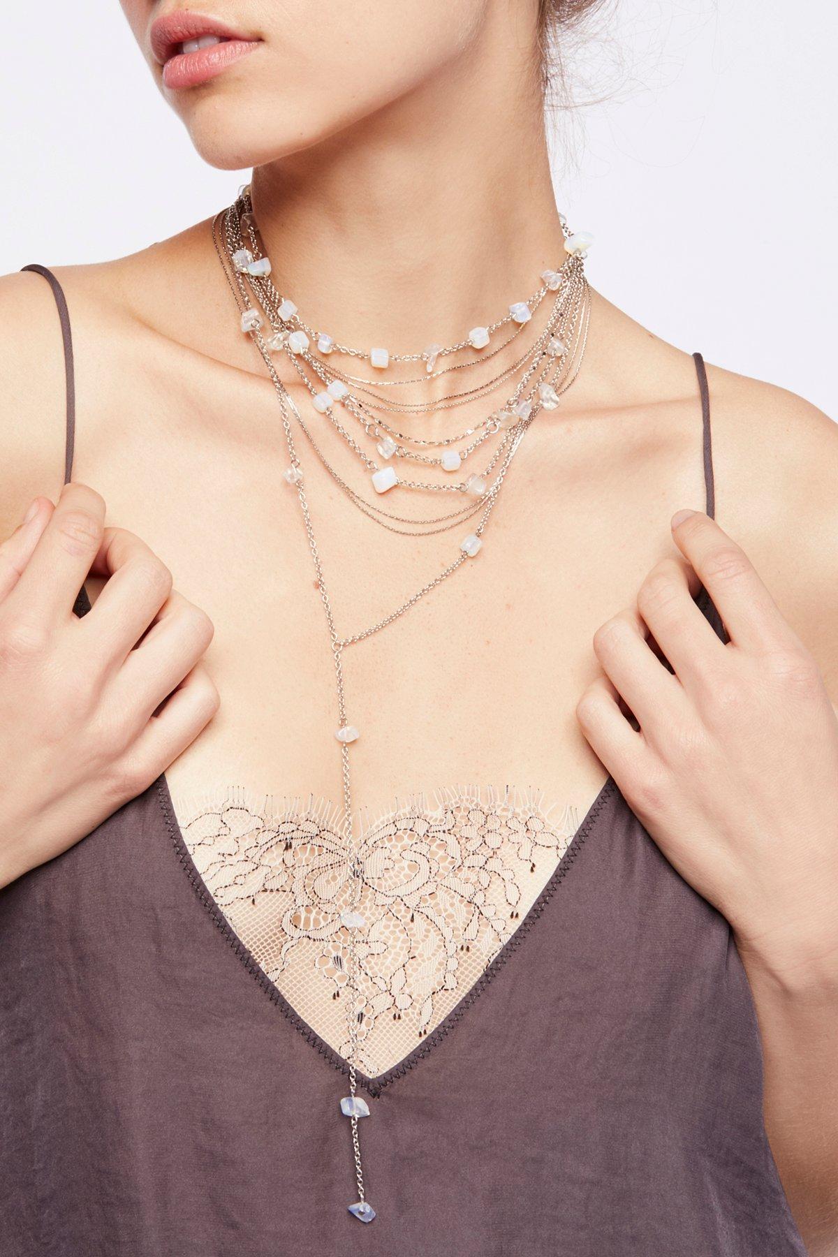 精美宝石围裹领结式项链