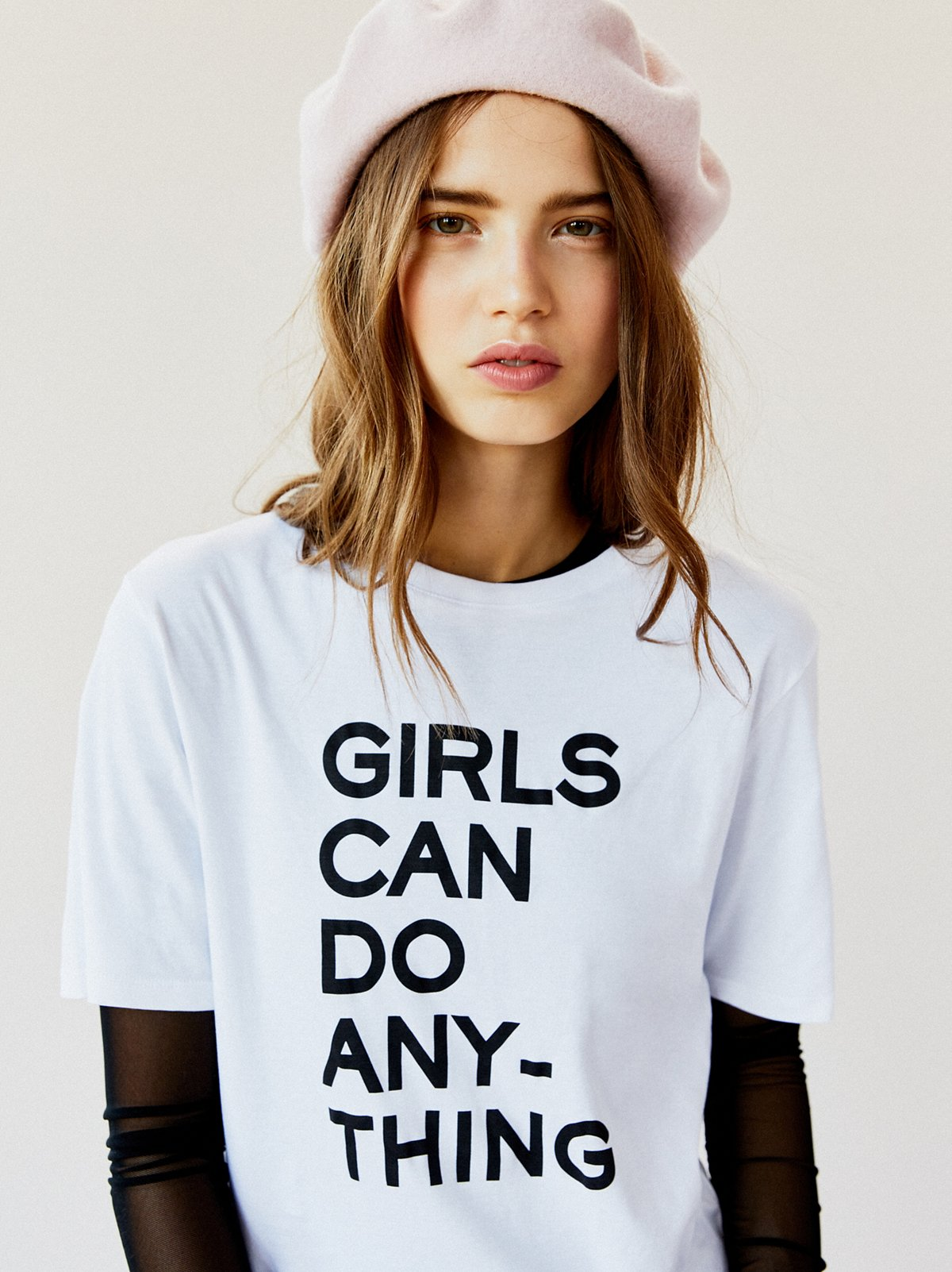 Do Girls Like Cute But Non Muscular Guys: Zadig & Voltaire Girls Can Do Anything Tee At Free People