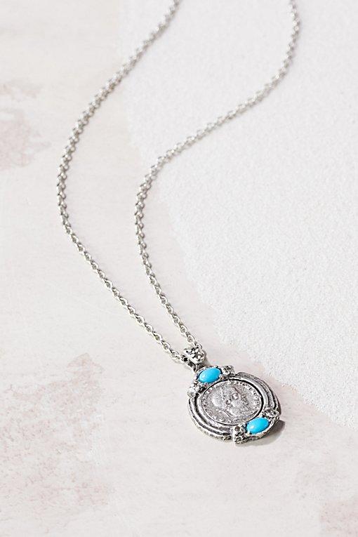 Product Image: Medallion Stone Necklace
