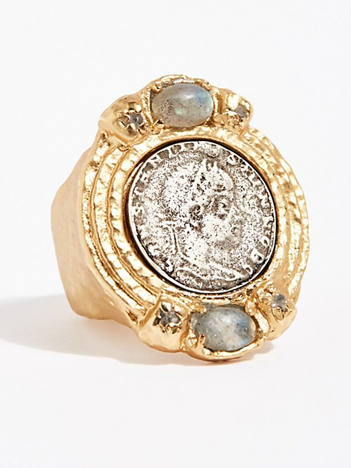 Product Image: Labradorite Medallion Ring