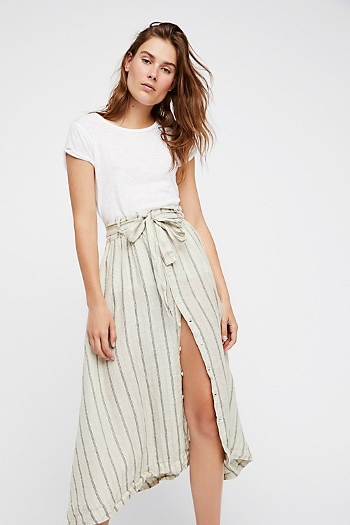 Product Image: Tie Front Midi Skirt