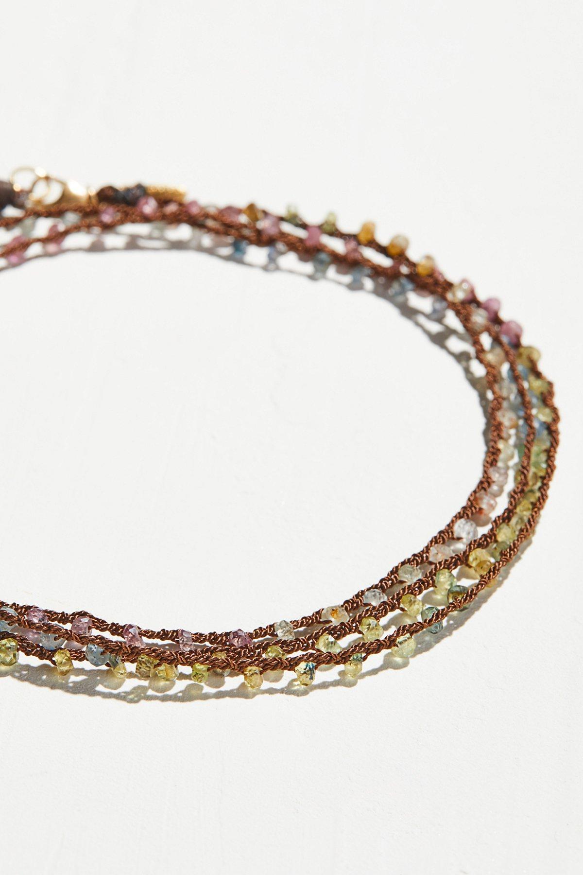 Multi Sapphire Talisman Silk Wrap
