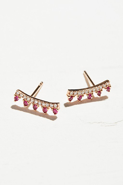 Product Image: 14k Ruby & Diamond Maiden Ear Climbers