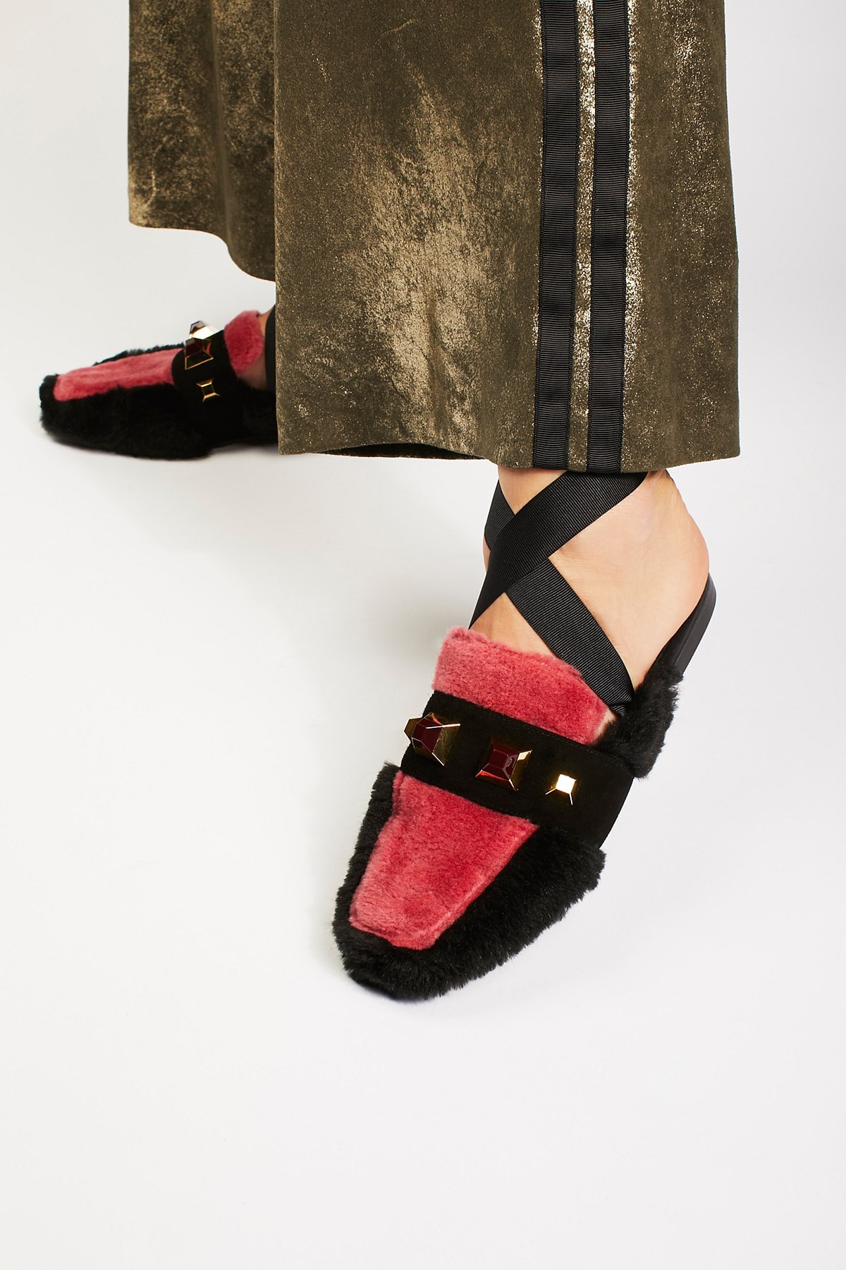 Parisian缠绕式系带乐福鞋