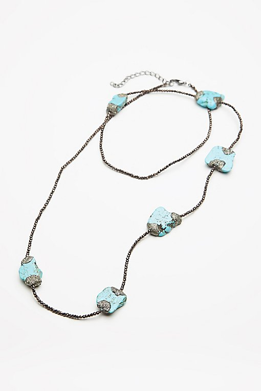Product Image: Pyrite x Turquoise Layering Necklace
