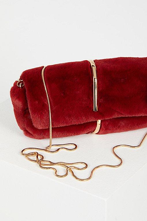 Product Image: Faux Fur Baguette Crossbody