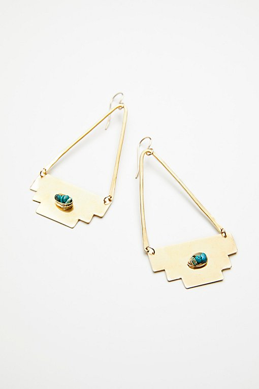Product Image: Dry Creek Turquoise Hoops
