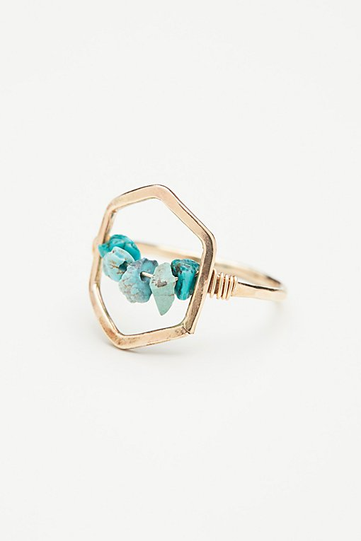 Product Image: Turquoise Hex Ring