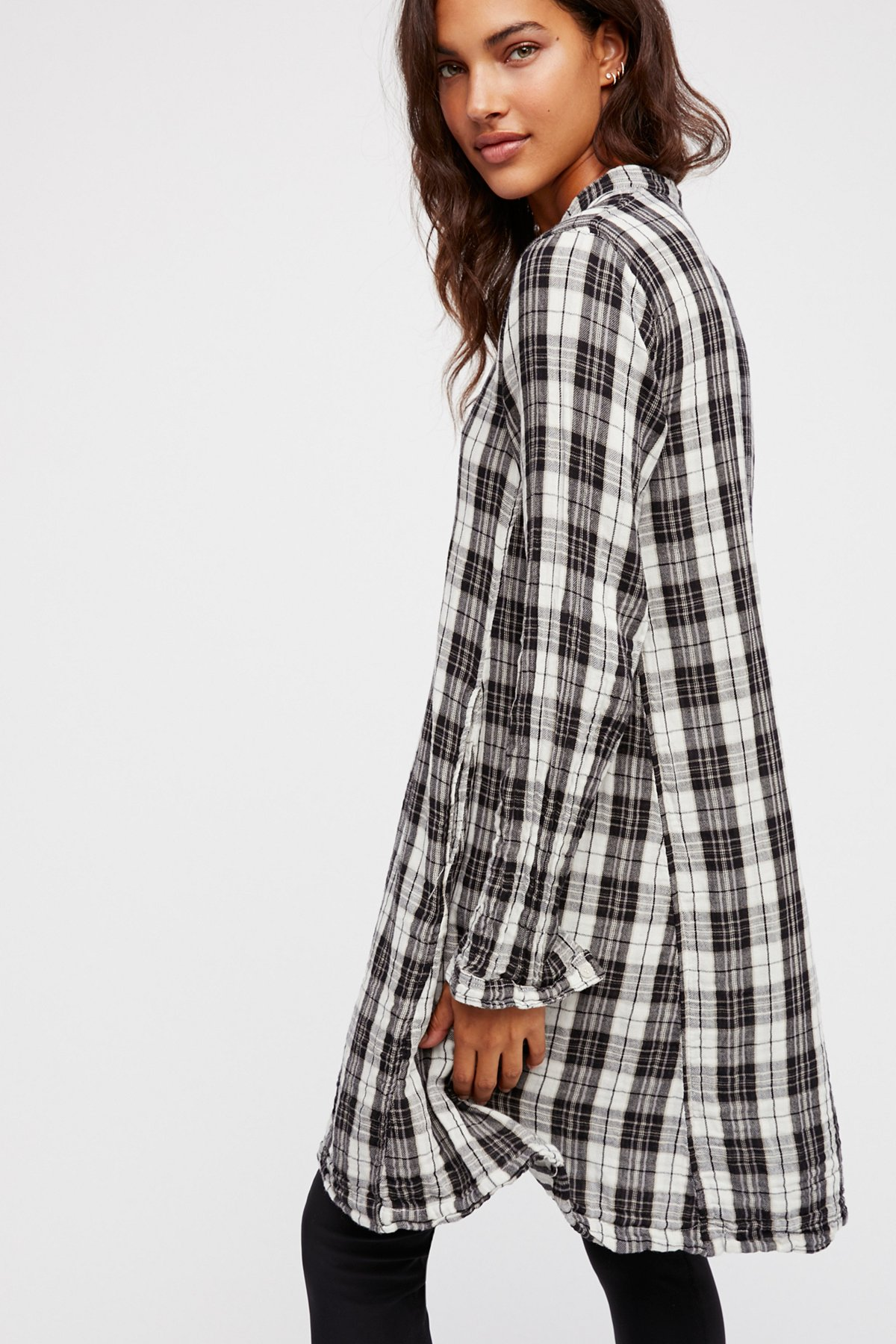 Bree格子衬衫式连衣裙