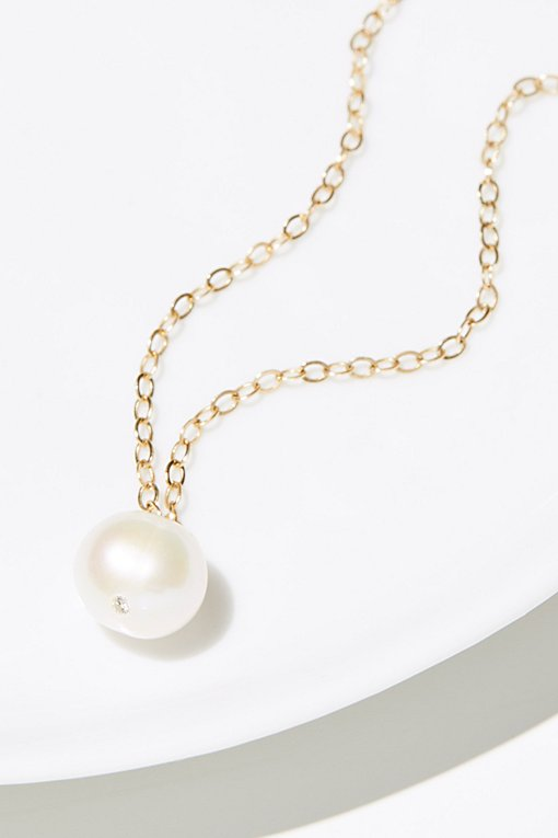 Product Image: 14k Pearl x Diamond Necklace