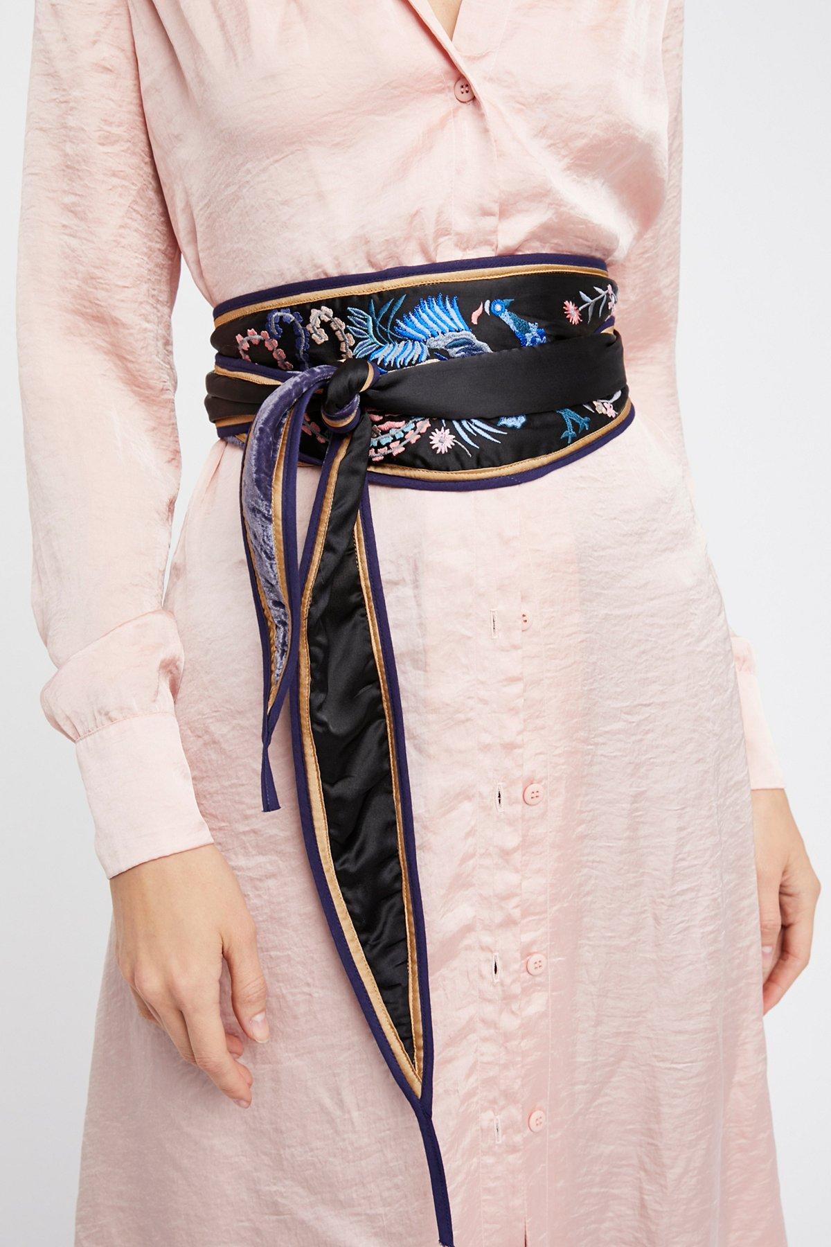 Wildflower Reversible Wrap Belt