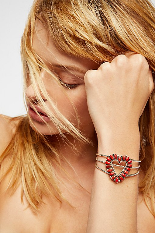 Product Image: Sterling Apple Coral Heart Cuff