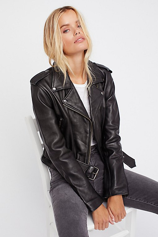 Product Image: Shrunken Leather Moto Jacket