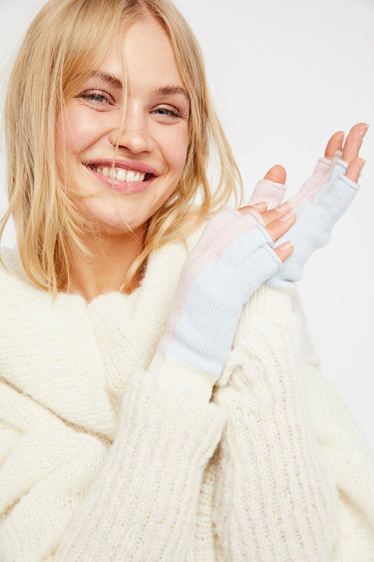 Holland Color Block Fingerless Gloves