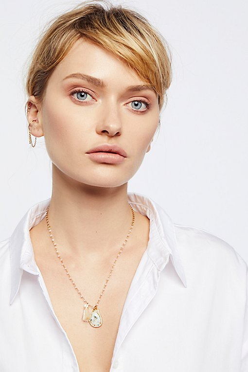 Product Image: Semi-Precious Stone Charm Necklace